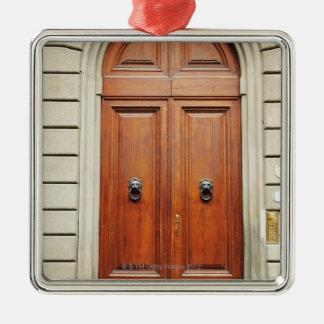 Heavy wooden doors, Florence, Italy Metal Ornament