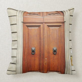 Heavy wooden doors, Florence, Italy Throw Pillow