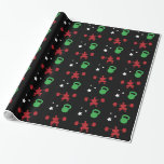 HeavyLifting Kettlebell Stars Pattern Wrapping Paper