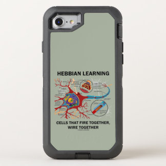 Hebbian Learning Cells Fire Together Wire Together OtterBox Defender iPhone 8/7 Case