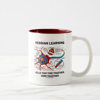Hebbian Learning Cells Fire Together Wire Together Two-Tone Coffee Mug