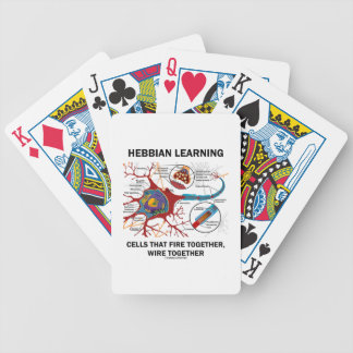 Hebbian Learning Cells That Fire Together Wire Bicycle Playing Cards