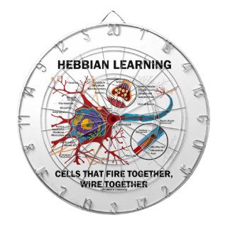 Hebbian Learning Cells That Fire Together Wire Dart Boards