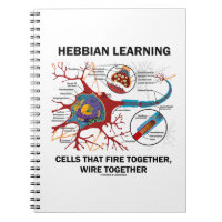 Hebbian Learning Cells That Fire Together Wire Spiral Note Books