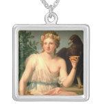Hebe, 1784 square pendant necklace