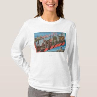 Heber City, Utah - Large Letter Scenes T-Shirt