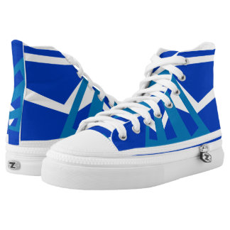 Heber Royal Denim and White Triad High Top