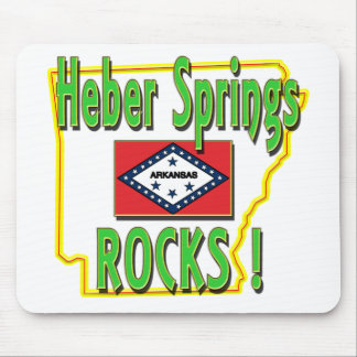 Heber Springs Rocks ! (green) Mouse Pad
