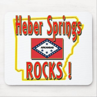 Heber Springs Rocks ! (red) Mouse Pad