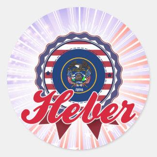 Heber UT Round Stickers