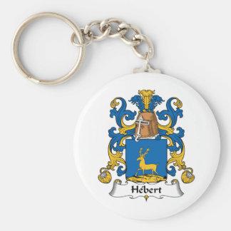 Hebert Family Crest Key Chain