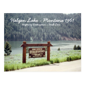 Hebgen Lake Montana 1961 Quake Fault Line Postcard