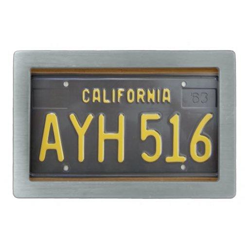 Hebilla 1963 de la placa del vintage de California Hebillas De Cinturon
