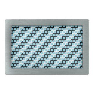 Hebilla azul del rectángulo de la raya del punto hebillas cinturon rectangulares