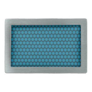 Hebilla azul del rectángulo del punto azul hebillas cinturon rectangulares