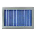 Hebilla azul y blanca del panel de la célula solar hebilla cinturon rectangular