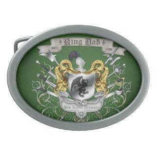Hebilla de cinturón verde de rey Dad Royal Crest