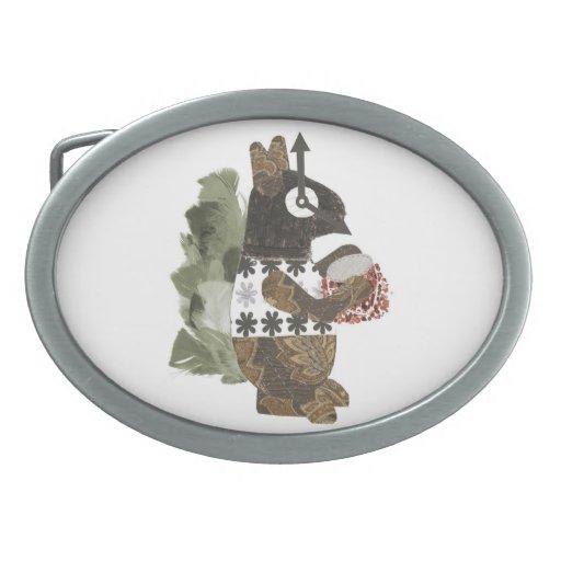 Hebilla de la ardilla del ladrón hebillas cinturón ovales