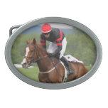 Hebilla de la carrera de caballos del césped hebillas de cinturón ovales