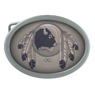 Hebilla de la fauna de las naciones de la hebilla hebilla de cinturón oval
