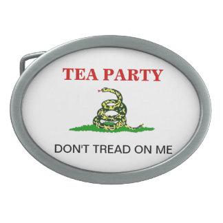 Hebilla de la fiesta del té hebilla cinturon oval