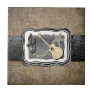 Hebilla de la guitarra del oro teja
