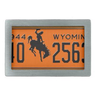 Hebilla de la placa 1944 del vintage de Wyoming Hebillas De Cinturon Rectangulares
