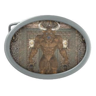 Hebilla de Minotaur Hebillas De Cinturón Ovales