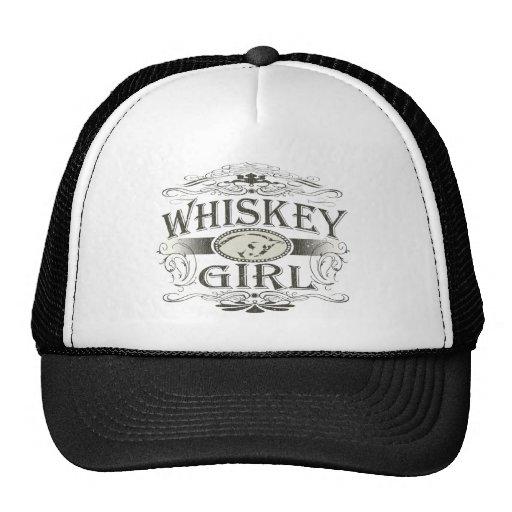 Hebilla del chica del whisky gorros bordados