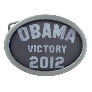 Hebilla del cinturón 2012 de la victoria de Obama Hebillas De Cinturon Ovales