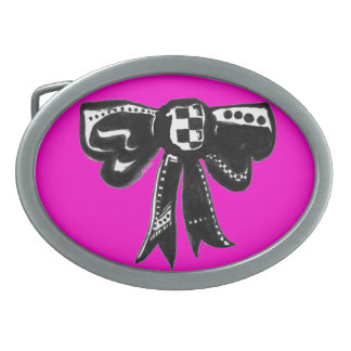 Hebilla del cinturón a cuadros del arco hebilla cinturón oval