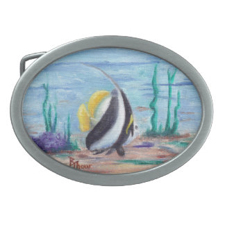 Hebilla del cinturón a pescado a pescado hebillas de cinturón ovales