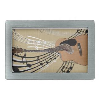 Hebilla del cinturón abstracta de la guitarra hebillas de cinturon