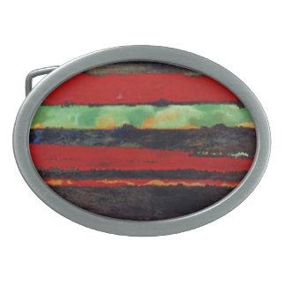 Hebilla del cinturón abstracta del diseño hebilla cinturon oval