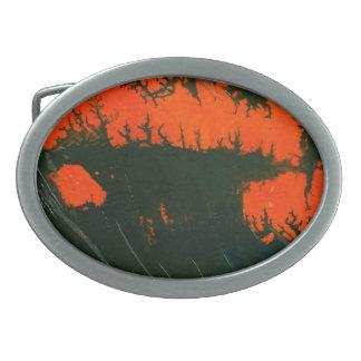 Hebilla del cinturón abstracta del diseño hebilla cinturón oval