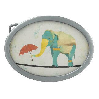Hebilla del cinturón agraciada de oro del elefante hebilla de cinturon