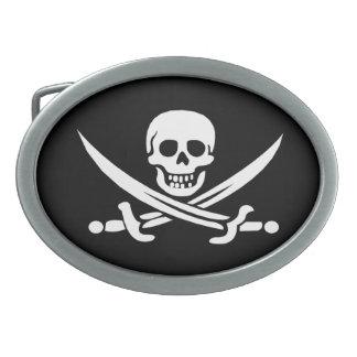 Hebilla del cinturón alegre de Rogelio del pirata Hebilla Cinturon Oval