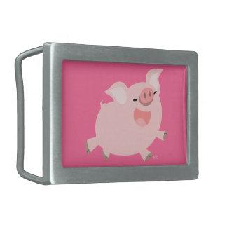 Hebilla del cinturón alegre linda del cerdo del di hebillas de cinturón rectangulares