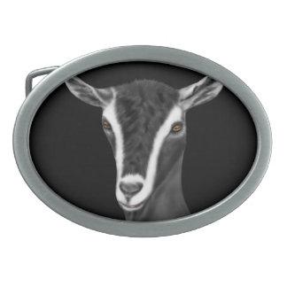 Hebilla del cinturón alpina de la cabra de la lech hebillas de cinturon ovales