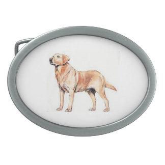 Hebilla del cinturón amarilla del perro del hebillas de cinturón ovales