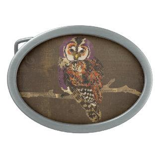 Hebilla del cinturón Amethyst y ambarina del vinta Hebillas De Cinturón Ovales