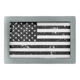 Hebilla del cinturón apenada de la bandera america hebillas cinturon rectangulares