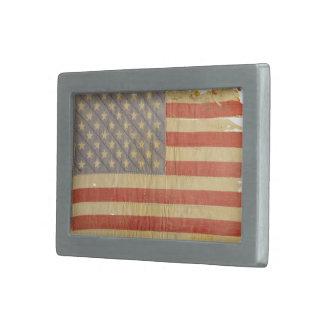 Hebilla del cinturón apenada de la bandera de los  hebilla de cinturon rectangular