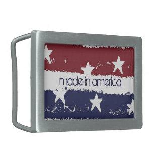 Hebilla del cinturón apenada patriótica americana  hebillas de cinturon rectangulares