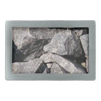 Hebilla del cinturón áspera floja de la roca del g hebilla de cinturón rectangular
