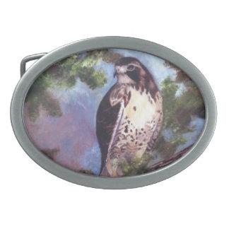 Hebilla del cinturón atada rojo del halcón hebilla cinturón oval