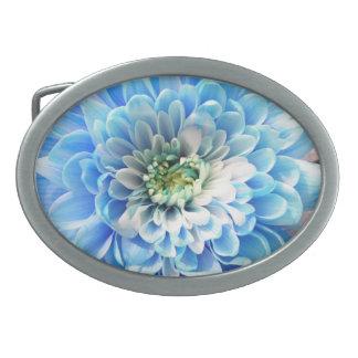 hebilla del cinturón azul de la flor hebilla cinturon oval