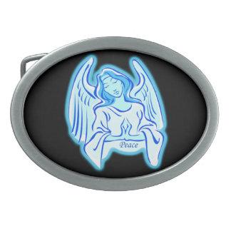 Hebilla del cinturón azul del ángel de la paz hebilla cinturon oval