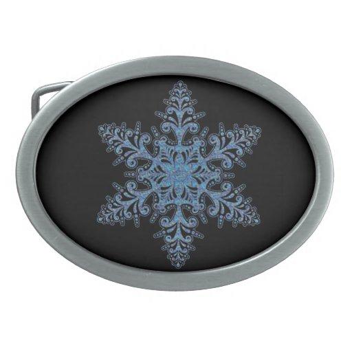 Hebilla del cinturón azul del copo de nieve hebilla de cinturon