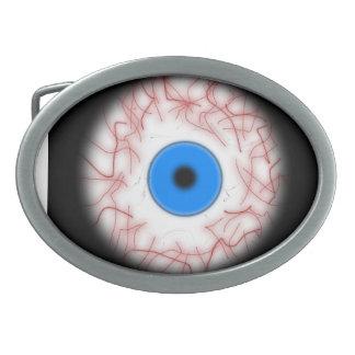 Hebilla del cinturón azul grande del globo del ojo hebillas cinturon
